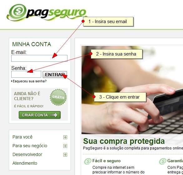 PagSeguro-FazendoLogin